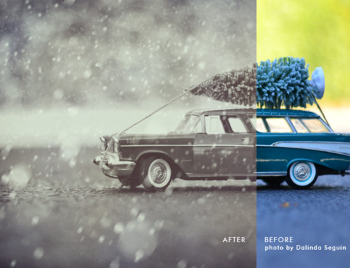 Adding a vintage vibe in Photoshop + Let's make it snow!